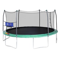 Skywalker Trampolines Green 16-foot Oval Trampoline with Enclosure and Toss Game