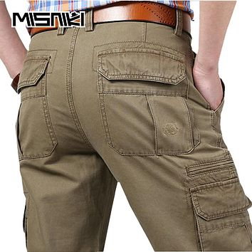 Spring New Cargo Pants Men Cotton Tactical Trousers Men Work Trousers Overalls Pantaloon Home