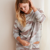 Aerie Easy Crew Sweatshirt, Gray