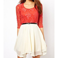 LACE CHIFFON DRESS from Girl boutique