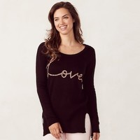 Women's LC Lauren Conrad High-Low Crewneck Sweater | null