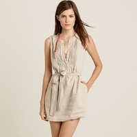 Women's new arrivals - beach cover-ups - Linen tuxedo tunic - J.Crew