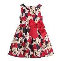 2015 New Summer Girls Dress Tutu Princess Baby Minnie Mouse Dress Dot Baby Casual Paty Dress for 2-6 Years Kid Dress