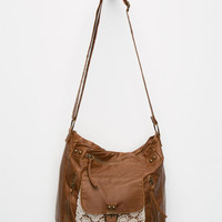 T-Shirt & Jeans Crochet Pocket Crossbody Bag Brown One Size For Women 23645340001