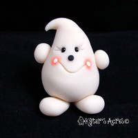 Glow in the Dark PARKER - Polymer Clay Halloween Figurine - Whimsical Character Sculpture