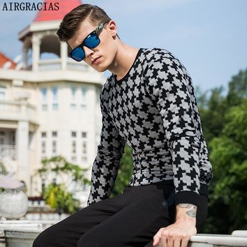 AIRGRACIAS Patter O-Neck Long-Sleeved Pullovers