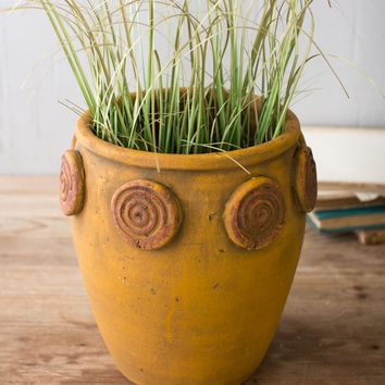 Eternity Circle Clay Pot
