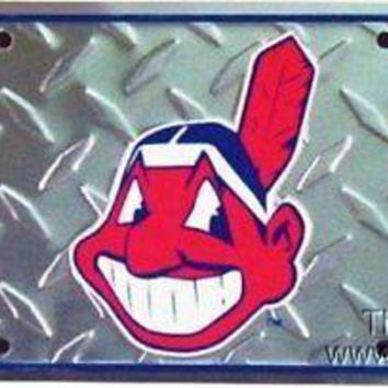 Cleveland Indians DIAMOND style PV2643 Metal Tag License Plate Baseball