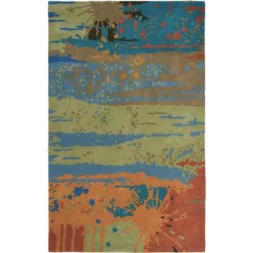 VO2647 Volare Hand-Tufted Area Rug, 5-Feet by 8-Feet, Contemporary, Green By Rizzy Home