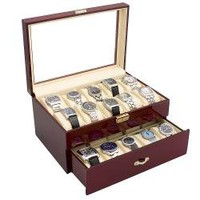 Glossy Rosewood 20-watch Storage Case | Overstock.com