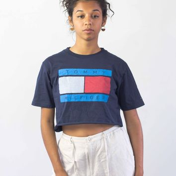 Tommy Hilfiger Reworked Logo Crop Top