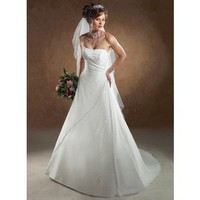 Charming Sleeveless A-line wedding dress