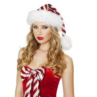 Roma Costume C179 - Red/White Striped Christmas Hat