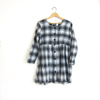 vintage plaid dress • babydoll dress • mini dress • grunge revival dress