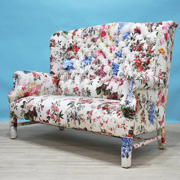 Floral Wing patchwork sofa