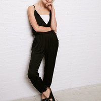 Don't Ask Why Wrap Jumpsuit, Black