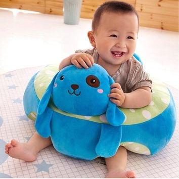 Baby Seats Sofa Feeding Chair Children High Chairs Puff Seat Bedding Infant Nest Bean Bag Inflatable Armchair For Kid Cushion Sit (Blue) (View amazon detail page)