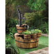 Old Fashioned Water Pump Barrel Fountain