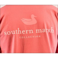 Authentic Tee in Azalea by Southern Marsh
