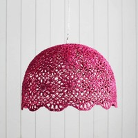 Fuchsia Cotton Goa Hanging Lamp