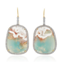 Aquaprase and Diamonds Earrings | Moda Operandi