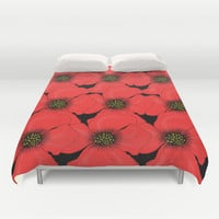 Poppies Duvet Cover by Veronica Ventress