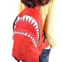Cool red shark backpack