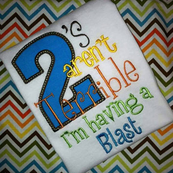 Second Birthday applique shirt- first birthday shirt- birthday party
