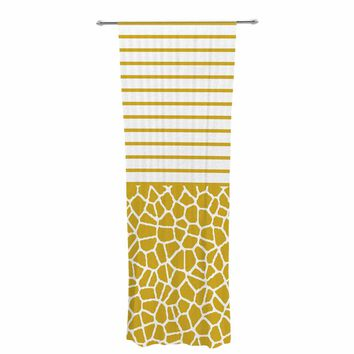 "Trebam ""Staklo (Gold)"" Gold White Digital Decorative Sheer Curtain"