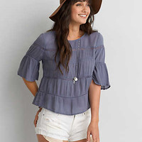AEO TIERED LACE TOP