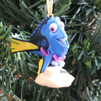 Licensed cool 2016 Custom Disney Nemo Finding Dory Blue Tang Fish Christmas Ornament PVC NEW