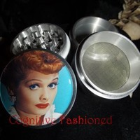I love Lucy Lucille Ball 4 Piece Herb Spice Grinder Aluminum | CognitiveFashioned - Furnishings on ArtFire
