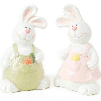 2 Easter Figures - Bunny Pair