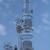 Newest heavy bases Mobius Matrix sidecar glass bong birdcage perc glass pipe thick 6mm Honey Buckets banger glass smoking pips joint 18.8mm