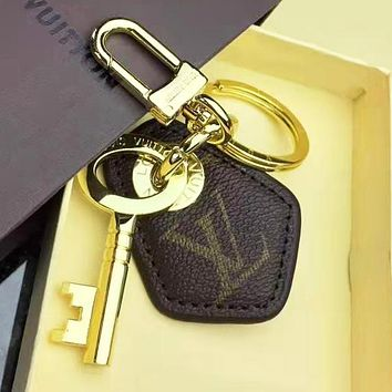 LV Louis Vuitton Fashion Women Men Cowhide Multicolor Car Key Ring Accessories 2#