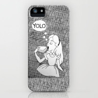 YOLO Alice iPhone Case by MJOillustration | Society6