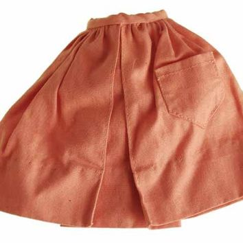 Vintage Barbie Doll Gathered Skirt Orange 1960s