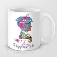 Mary Poppins Portrait Silhouette Mug by Bitter Moon