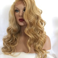 Sunset Dark Blond Hair Lace Front Wig 14 inches