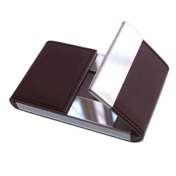 Leather and Metal Business and Card Holder