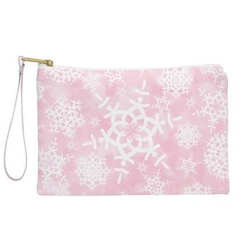 Lisa Argyropoulos Snow Flurries in Pink Pouch