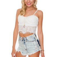Betsy Lace Bustier - White