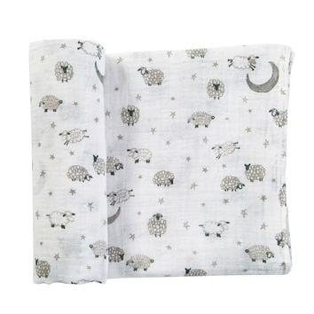 Counting Sheep Swaddle Blanket