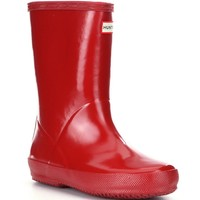 Hunter First Gloss Kid's Waterproof Rain Boots | Dillards