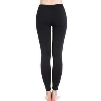 Bandage Hollow Out Women Leggings Sexy Mesh Slim Black Fitness Leggings Leggins Mujer#A11 SM6