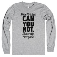 Dear Winter-Unisex Heather Grey T-Shirt
