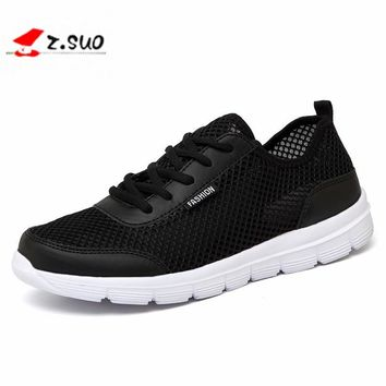 Men Shoes 2017 Summer Fashion Breathable Men Casual Shoes Lace Up High Quality Couple Flat Mesh Shoes Plus Size 35-48