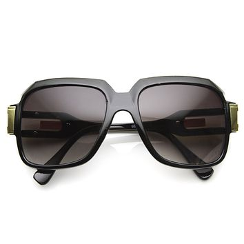 Hipster Large Square 80's Euro Aviator Sunglasses 8903