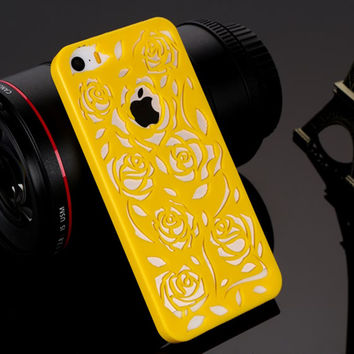 Phone case for Apple iphone 5s case iphone5 5S Cases Vintage Flower Pattern Fashion Luxury iphone5S phone Back Cover