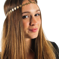Antique gold coin headpiece